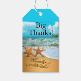 Starfish Couple ASK TO HAVE YOUR NAMES PUT IN SAND Pack Of Gift Tags