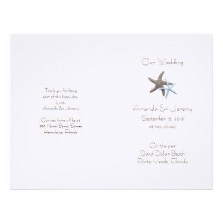 Starfish Couple Custom Wedding Program Cover