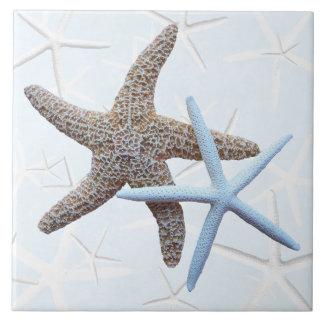 Starfish Couple Decorative Square Tile