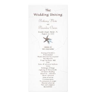 Starfish Couple Flat Double Sided Wedding Program Custom Rack Card