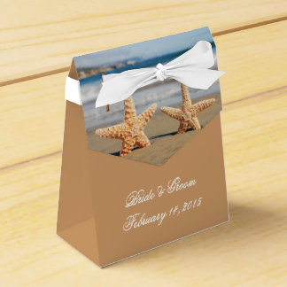 Starfish Couple on the Beach Wedding Favor Box
