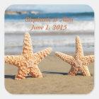 Starfish Couple on the Beach Wedding Stickers