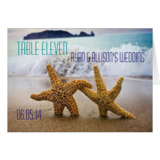 Starfish Couple Table Seating Card