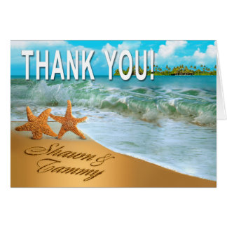 Starfish Couple Thank You Card