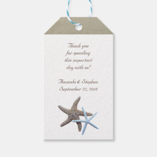 Starfish Couple Thank You Wedding Favour Pack Of Gift Tags
