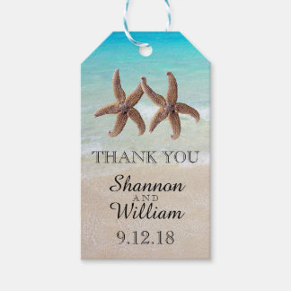 Starfish Couple Tropical Wedding Thank You Pack Of Gift Tags