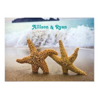 Starfish Couple Wedding Invitation