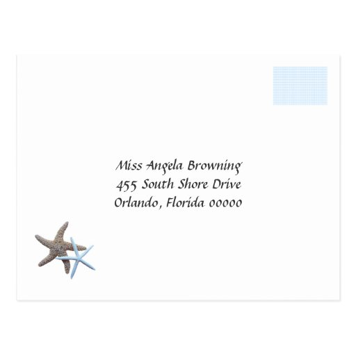 Starfish Couple Wedding Response Cards Post Cards