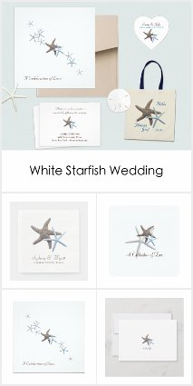 Starfish Couple White Wedding