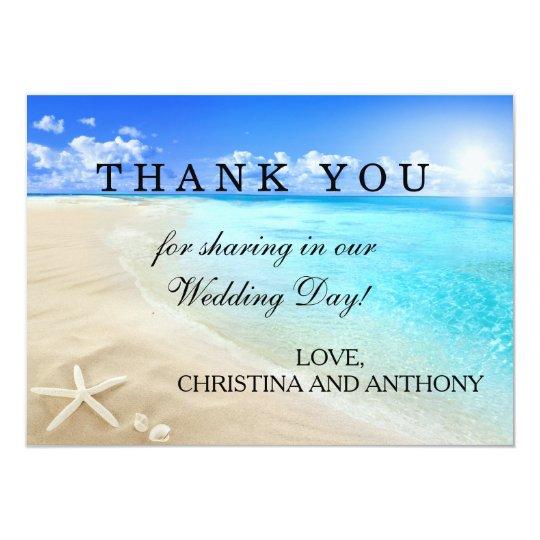 Starfish Destination Beach Wedding Thank You Note Card