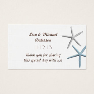 Starfish Favor Thank You Cards, Medium Size Business Card