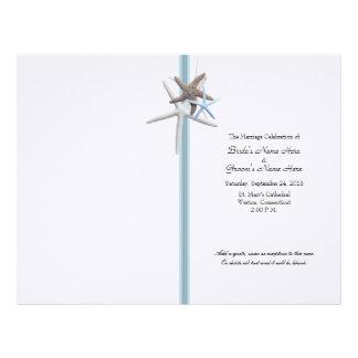 Starfish Gathering Wedding Program Cover