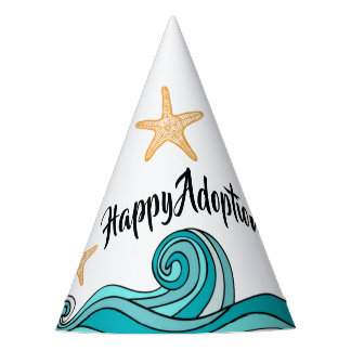 Starfish Happy Adoption Day Party Hat