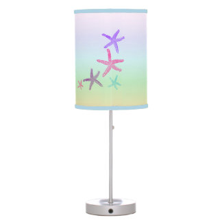 Starfish In Pastel Colors Pattern Table Lamp