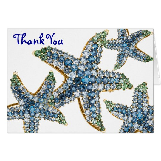Starfish Jewellery Thank You (editable) Blank Note Card