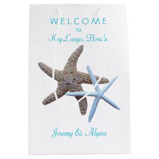 Starfish Key Largo Weekend Wedding Welcome Medium Gift Bag