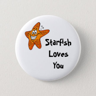 Starfish Loves You 2 Inch Round Button