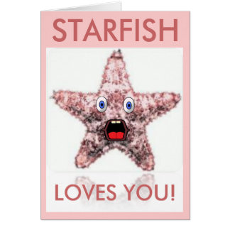 Starfish Loves You Valentine's Day Card