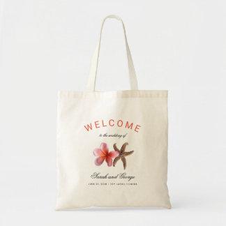 Starfish n Plumeria Welcome Wedding Bag