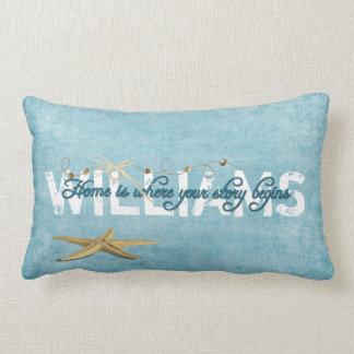 Starfish Nautical Name Lumbar Pillow