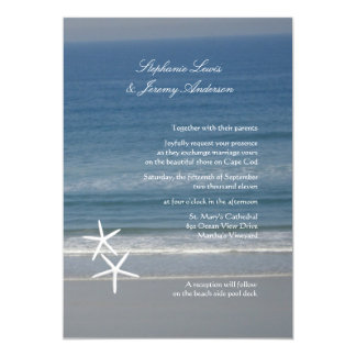 Starfish Ocean Custom Wedding Invitations