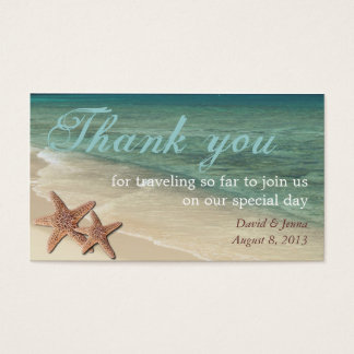 Starfish Ocean Thank You Tag