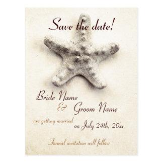 starfish - ocean whisper - save the date postcard