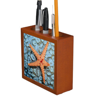 Starfish On A Coral With Polips Pencil/Pen Holder
