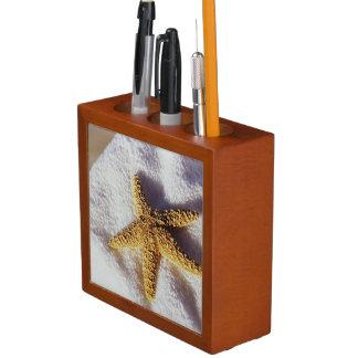 Starfish On A Towel Desk Organizer