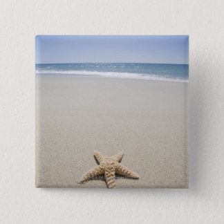 Starfish on beach by Atlantic Ocean 2 Inch Square Button