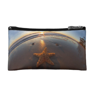 Starfish on Beach Cosmetic Bags