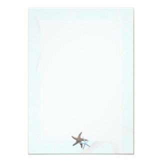 Starfish on Light Blue, Lined Blank Note Cards