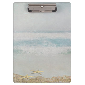starfish on ocean beach watercolor clipboard