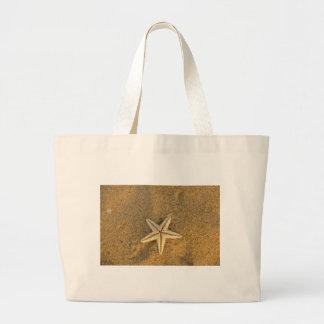 Starfish On Sand Tote Bags
