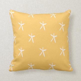 Starfish on Sand Throw Pillow