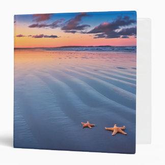 Starfish On Sand Vinyl Binders