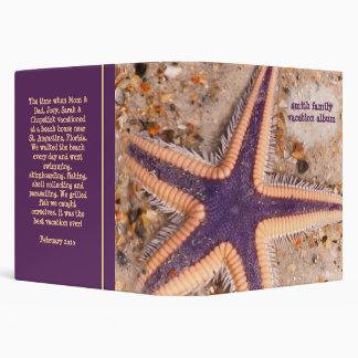 """Starfish on the Beach 1.5"""" Binder"""