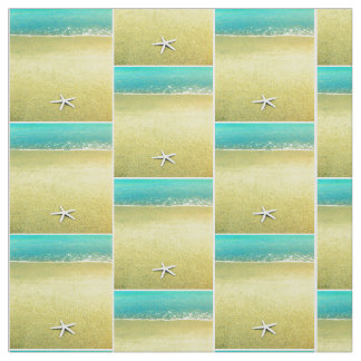 Starfish on the Beach Fabric