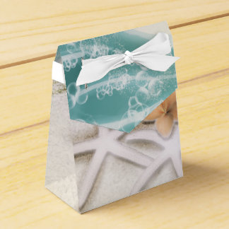 Starfish on the Beach Teal Sea Water Tropical Favor Box
