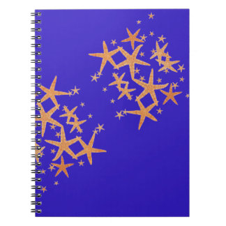 Starfish On Vibrant Purple Blue Notebook