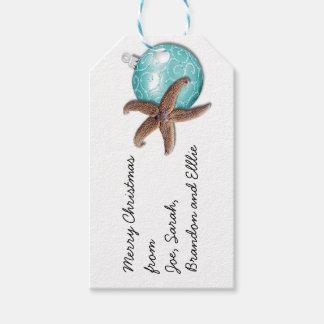 Starfish Ornament Tropical Christmas Gift Tags
