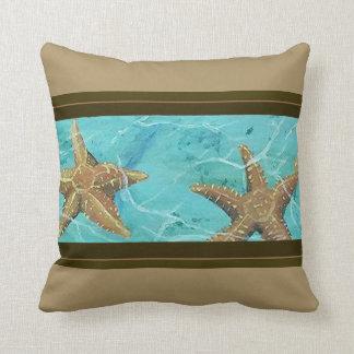"Starfish Paradise Designer Throw Pillow 16"" x 16"""