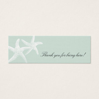 Starfish Passion Light Blue Skinny Favor Tags