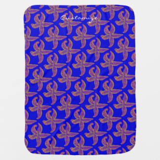starfish pattern Thunder_Cove blue Stroller Blanket
