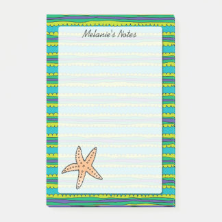Starfish Personalized 4 x 6 Post-it® Notes