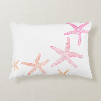 Starfish Pink and Orange Accent Pillow