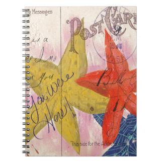 Starfish Postcard Note Book