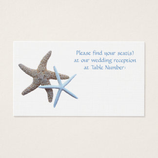 Starfish Reception Seating Enclosure Cards