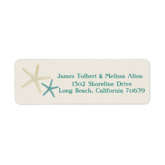 Starfish Return Address Label