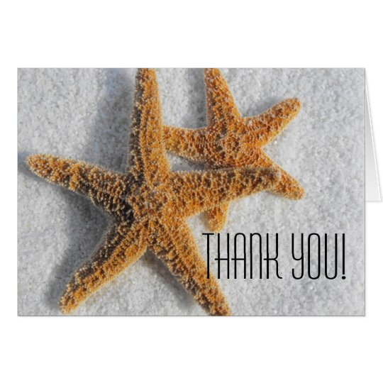 Starfish Sand Beach Ocean Theme Card